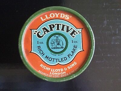 "Llloyd's "" Captive ""  Tobacco Tin"