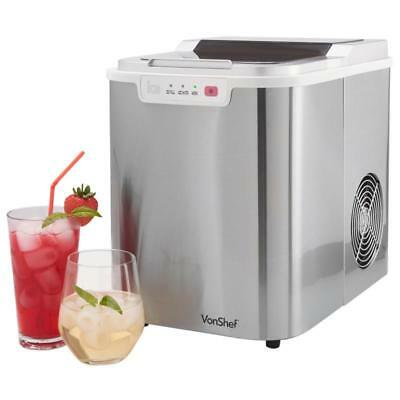 ICE MAKER Machine Cube Portable BBQ Parties COUNTER TOP 12KG Ice In 24Hrs Scoop