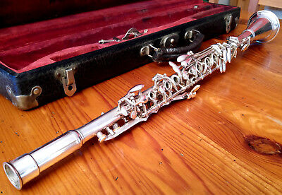 SILVER KING - Bb Metal Clarinet  Top condition / KIng Cleveland Ohio USA