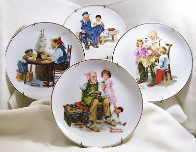 Norman Rockwell Collection ~ 4 Plates ~ 1984 Collectors Edition