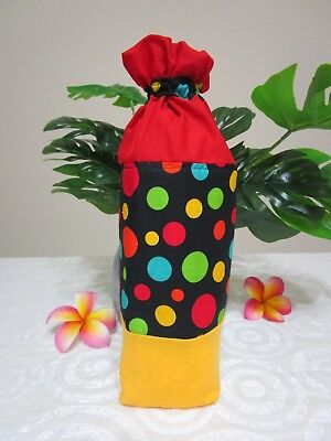 Insulated baby bottle bag-Black with dots-Fits all baby bottle sizes.