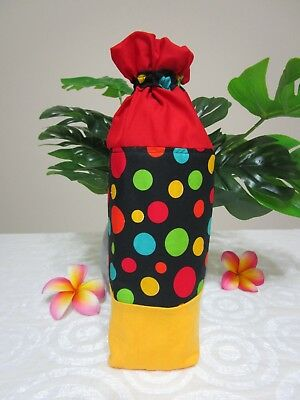 Insulated baby bottle holder-Black with dots-Fits all baby bottle sizes.