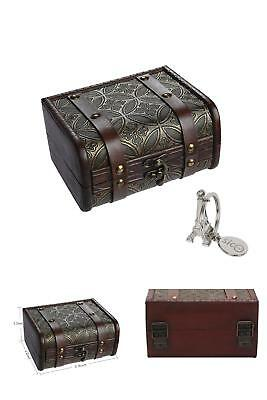 Jewelry Storage Treasure Box Vintage Case Wooden For Gift And House Decoration