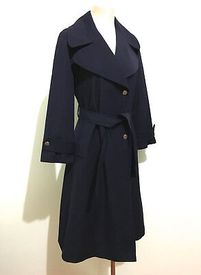 CULT VINTAGE '70 Cappotto Trench Donna Lana Wool Woman Rain Coat Sz.M - 44