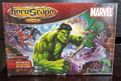 Hasbro HEROSCAPE: MARVEL THE CONFLICT BEGINS Game Set - Unused Complete In Box