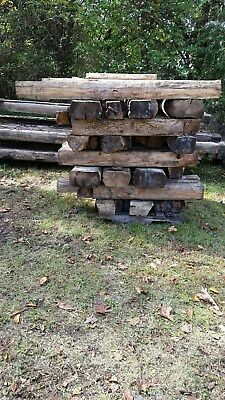 Hand Hewn Barn Beams Fireplace Mantle