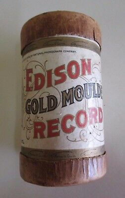 Edison Gold Moulded Record Cylinder - Container Only - Antique Pen Holder - 1908