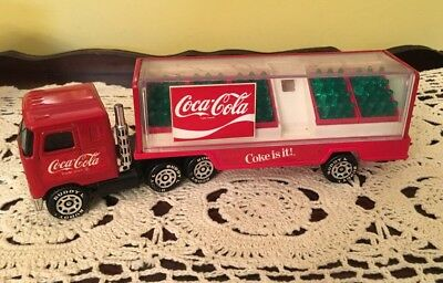 Vintage 1980 Buddy L Coca Cola Truck Semi Delivery Truck Coke Is It! Japan made