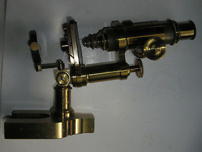 Antique PRANG Boston Brass Microscope E. Hartnack & A. Prazmowski Paris 1870-85