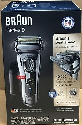 Braun Series 9 Wet & Dry Shaver With Clean&Charge System. Model 9295cc. New