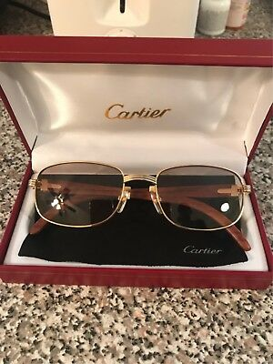 Cartier Wood & Gold Glasses