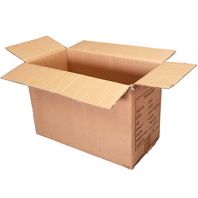 10 x Large Strong Double Wall Cardboard Storage Boxes Moving Box 60x30x42 cm