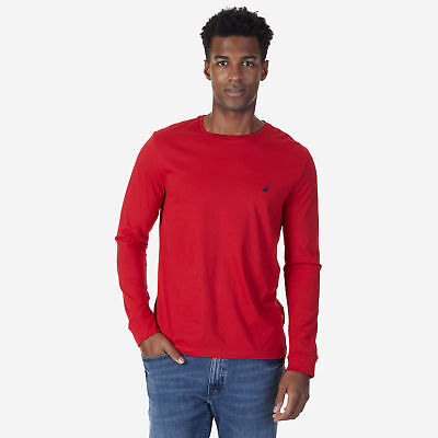 Nautica Mens Solid Long Sleeve T-Shirt