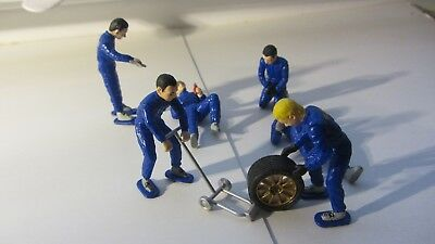 Scx Rally Box Crew Wrc Subaru Mechaniker -Ninco-Scalextrics-Spirit-Fly-Slotcar