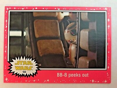 2015  Star Wars: Journey to the Force Awakens #104 BB-8 peeks out PINK RED NEON