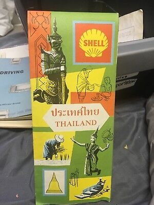 Shell Gasoline Poster In Map Of Thailand