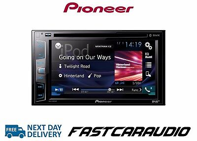 "Pioneer AVH-X490DAB Double Din 6.2"" Bluetooth Touchscreen DAB+ Radio/CD/DVD/DIV"