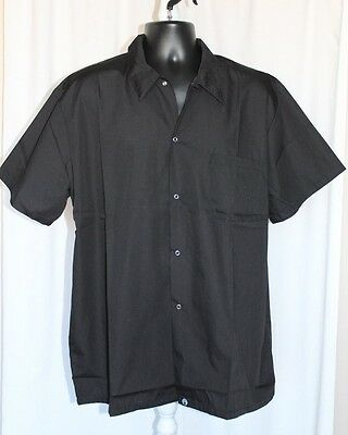 Chef Works short sleeved Chef's Shirt. size XL. Black