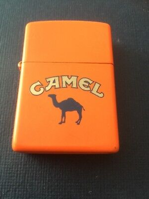 Vintage 92 Orange Matte CAMEL Cigarettes Beast Advertising Zippo Lighter