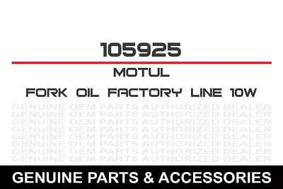 Ea/Motul Fork Oil Synthetic Ltr Med