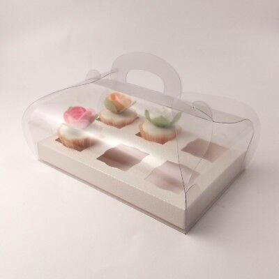 Clear Cupcake boxes for 6 mini cupcakes - premium quality