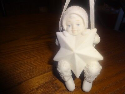 Department 56 - Snowbabies Bisque Ornament - Swinging On A Star -