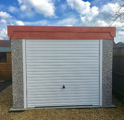 GARADECK SECTIONAL CONCRETE GARAGE 16'2''x 8'5'' (PENT ROOF) INC WINDOW