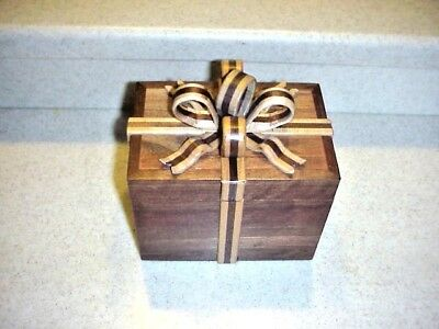Hand made walnut or Cherry music jewelry box