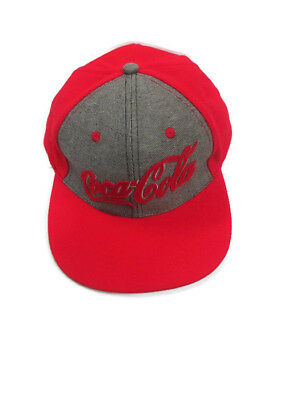 Coca-Cola  Red  and Gray Waffle-weave Baseball Cap Hat- BRAND NEW