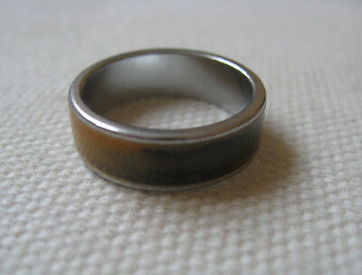 Vintage Silver Tone Metal Mood Ring Changes Colour Size N