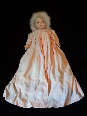 "Vintage Madame Alexander Composition/Cloth Baby Doll, ""Pinky,"" All Original, EVC"