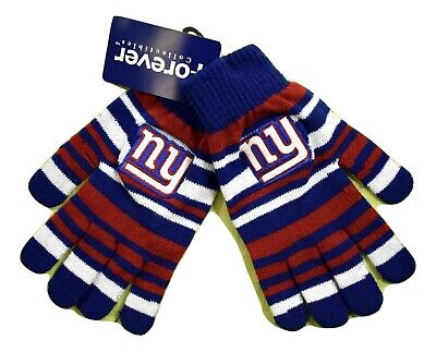 Forever Collectibles NFL New York Giants Knit Winter Gloves One Size Fits MOst