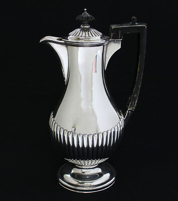 Victorian 19Th Century English Sterling Silver Coffee Pot * Hallmarked Date 1892