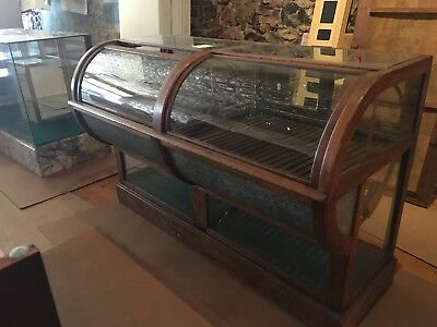 Antique cigar/tobacco case large glass