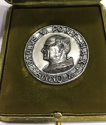 Pope Paul VI Silver medal 1972 Anno X Convocation of the Synod of Bishops Paulus