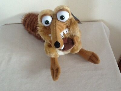 """ICE AGE 2 THE MELTDOWN SCRAT THE SQUIRREL 10"""" Soft PLUSH TOY 2005 CWT"""