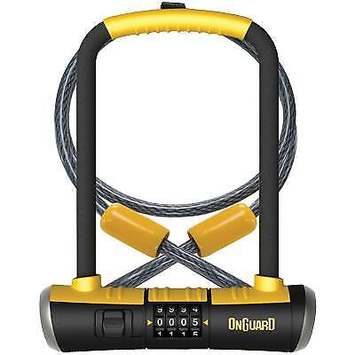 """GUARD SECURITY 10.5/"""" x 4/"""" BICYCLE SHACKLE U LOCK WITH SIDE MOUNT BRACKET 1010"""