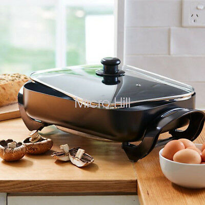 New Electric Frypan 30*40CM NonStick Coated Plate Adjustable temperature control
