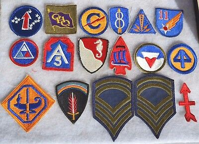 Lot #1 Us Wwii Patches U.s. Uniform Insignia American Military Ww2 Cloth Patch