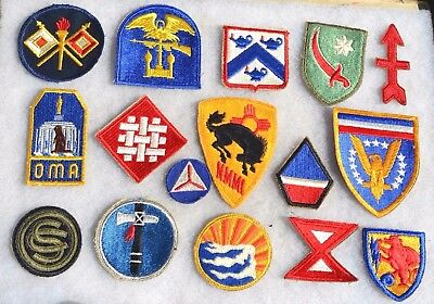Lot #2 Us Wwii Patches U.s. Uniform Insignia American Military Ww2 Cloth Patch