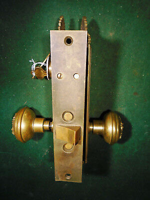 1900 SARGENT 'PAROS' ENTRY MORTISE LOCK w/CYLINDER & KEY & PLATES (9551)