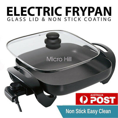 New Electric Banquet Frypan 30 x 30CM Non-Stick Adjustable temperature control Z