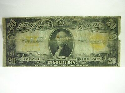 1922 $20 Large Note, Gold Certificate,  In Gold Coin