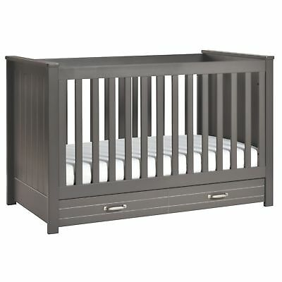 Asher 3-in-1 Convertible Crib with Toddler Bed Conversion Kit, Slate - M13801SL