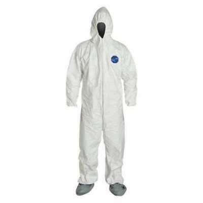 DUPONT  TY122SWH4X  Tyvek(R), White Hood and Boots, 4XL,