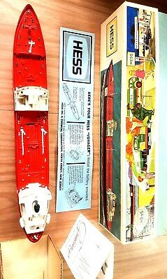 1966 Hess Voyager Ship W/box Greeting Card And Working Condition