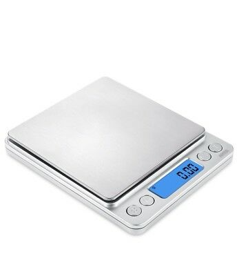 AMIR Digital Kitchen Scale 500g/ 0.01g with Back-Lit LCD Display