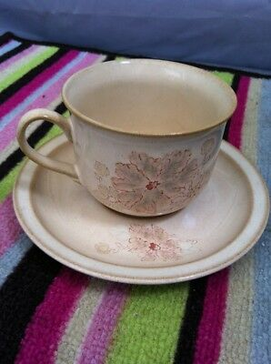 Denby Sandalwood Tea Cup And Saucer
