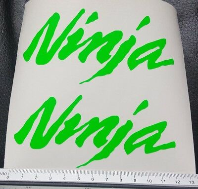 For NINJA KAWASAKI DECAL 120mm X 2 DAYGLO stickers motorcycle ZZR 1100 550 600