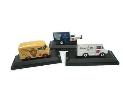 Coca-Cola Choice of  Olympic Commemorative Trucks Die-Cast 1996, 1960, or 1956